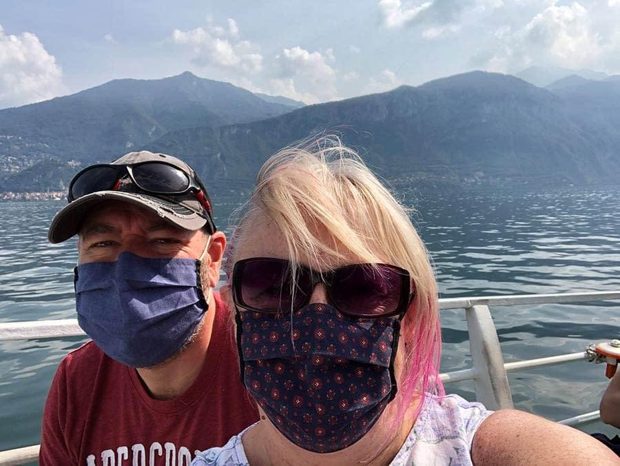 Masked Exploring on Lake Como italy