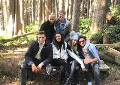 Tristan, Emily, Habbs, Miles, James, Liv