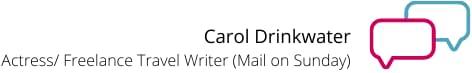 carol drinkwater writer mail on sunday